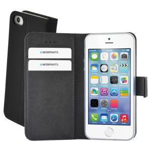 Mobiparts Premium Wallet TPU Case Apple iPhone 5/5S/SE Black